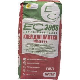 Клей для плитки ЕС 3000 цвет серый 25 кг