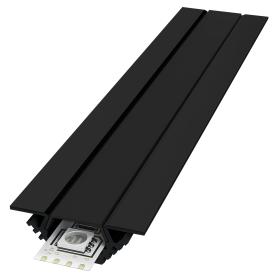 Профиль алюминиевый для светодиодной ленты, угловой, накладной, 2 м, цвет чёрный