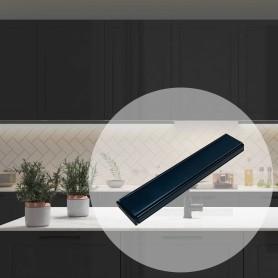 Профиль алюминиевый для светодиодной ленты, прямой, накладной, 1 м, цвет чёрный