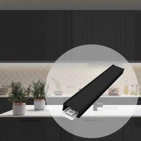 Профиль глубокий алюминиевый для светодиодной ленты, прямой, 2 м, цвет чёрный