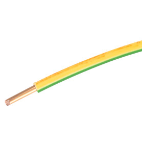 Провод Ореол ПуВ 1x4, на отрез, цвет жёлто-зелёный