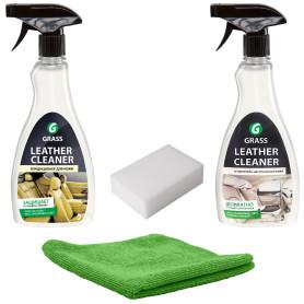 Набор по уходу за кожаным салоном автомобиля Grass Leather Cleaner