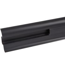 Плинтус напольный «Чёрный» высота 60 мм, длина 2.5 м