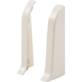 Заглушка для плинтуса левая и правая «Белый», высота 60 мм, 2 шт.