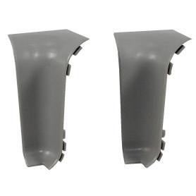 Угол для плинтуса внутренний «Серый», высота 60 мм, 2 шт.