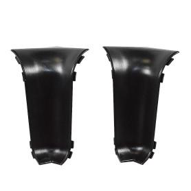 Угол для плинтуса внутренний «Чёрный», высота 60 мм, 2 шт.