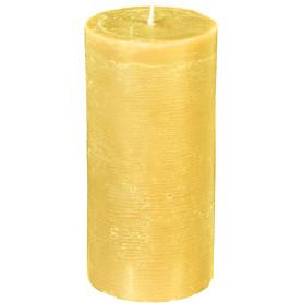 Свеча-столбик «Рустик», 6.8х14 см, цвет желтый