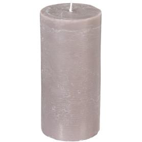 Свеча-столбик «Рустик» 6.8х14 см, цвет серо-коричневый