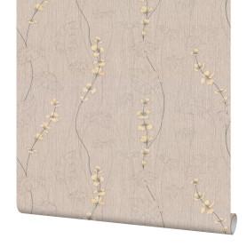 Обои флизелиновые Палитра Sakura бежевые 1.06 м 7136-28