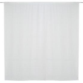 Тюль на ленте Nanga 300x280 см геометрия цвет белый