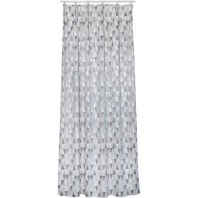 Штора на ленте Gurla 160x280 см цвет серый