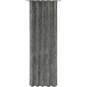 Штора на ленте Himalchuli 140x280 см однотон цвет серый
