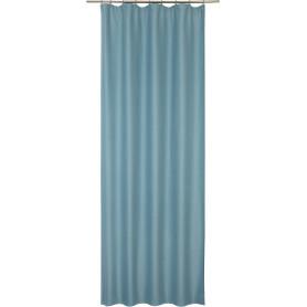 Штора на ленте Porong 135x280 см узоры цвет голубой