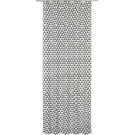 Штора на ленте Liushi 140x280 см цвет серый