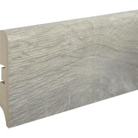 Плинтус напольный МДФ «Ясень беленый» высота 80 мм, длина 2.4 м