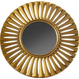Зеркало настенное «Ар Деко» круглое 40 см цвет золотой