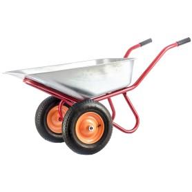 Тачка садовая двухколёсная усиленная 320 кг 90 л