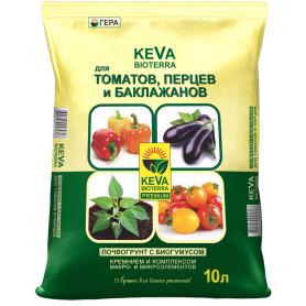 Грунт для томатов и перцев Keva Bioterra 10 л