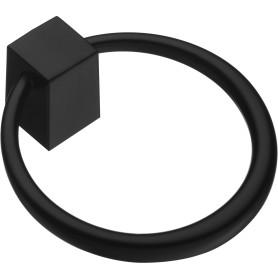 Ручка-кнопка мебельная K-1130, цвет матовый черный