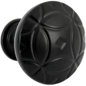 Ручка-кнопка мебельная RK-103, цвет матовый черный
