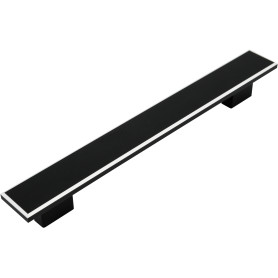 Ручка-скоба мебельная S-4130 160 мм, цвет матовый черный