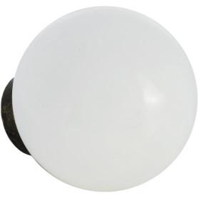 Ручка-кнопка мебельная KF12-11, керамика, цвет белый