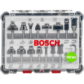 Набор фрез Bosch 15 шт., 8 мм