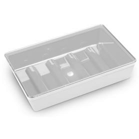 Мыльница Spacy пластик цвет белый/полупрозрачный