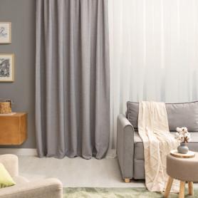 Штора на ленте Malonn 200x280 см цвет серый