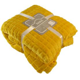 Плед Cuatro 200x220 см цвет жёлтый