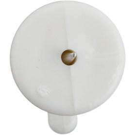 Крюк-точка настенный для картин, 16 мм, пластик, 12 шт.