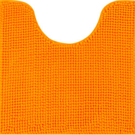 Коврик для туалета Merci 45x45 см цвет оранжевый