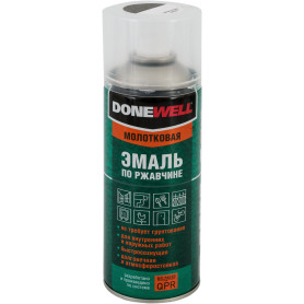 Эмаль по ржавчине Donewell цвет серебристо-чёрный 0.52 л