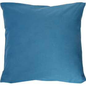 Наволочка 70х70 см сатин цвет сине-голубой