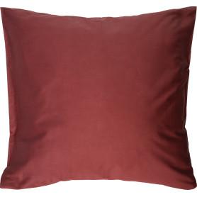 Наволочка 70х70 см сатин цвет терракотовый