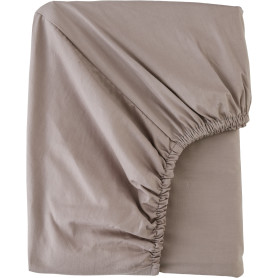 Простыня полутороспальная Mona Liza Premium, 200x160 см, сатин, цвет капучино