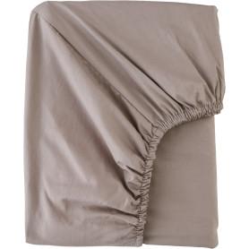 Простыня двуспальная Mona Liza Premium, 200x180 см, сатин, цвет капучино