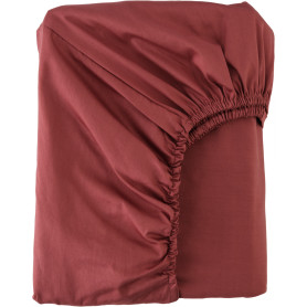 Простыня двуспальная Mona Liza Premium, 200x180 см, сатин, цвет кирпичный