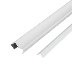 Комплект профилей для двери из ЛДСП, цвет серебро