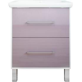 Тумба под раковину напольная «Экко» 60 см цвет фиолетовый