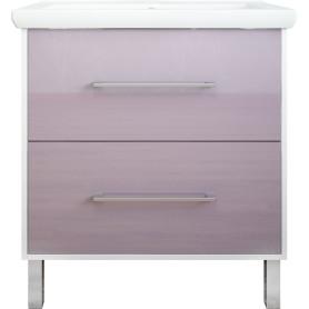Тумба под раковину напольная «Экко» 80 см цвет фиолетовый
