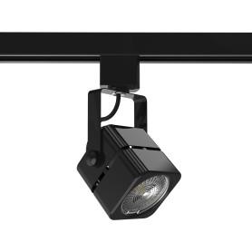Трековый светильник Gauss со сменной лампой GU10 50 Вт, 2 м², форма куб, цвет чёрный