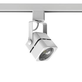 Трековый светильник Gauss со сменной лампой GU10 50 Вт, 2 м², форма куб, цвет белый