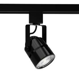 Трековый светильник Gauss со сменной лампой GU10 50 Вт, 2 м², форма цилиндр, цвет чёрный
