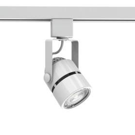 Трековый светильник Gauss со сменной лампой GU10 50 Вт, 2 м², форма цилиндр, цвет белый