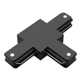Коннектор для соединения трековых шинопроводов Gauss T-образный, цвет чёрный