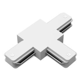 Коннектор для соединения трековых шинопроводов Gauss T-образный, цвет белый