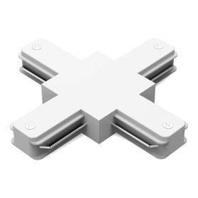 Коннектор для соединения трековых шинопроводов Gauss X-образный, цвет белый