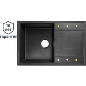 Мойка DELINIA 78x51 см, кварц, цвет чёрный