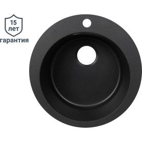 Мойка DELINIA 51x51 см, кварц, цвет чёрный